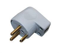 Electrical plug connection -3-way, grey